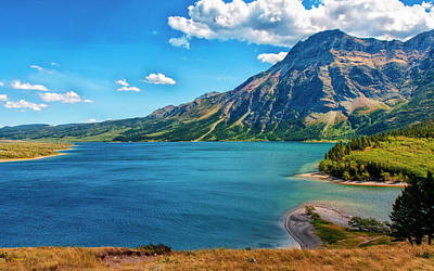 Photograph - Waterton Lake View by John M Bailey