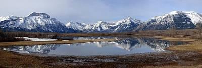 Watercolor Butterflies - Waterton Lakes Nat. Park Morning Snowy Reflections - Alberta by Ian Mcadie