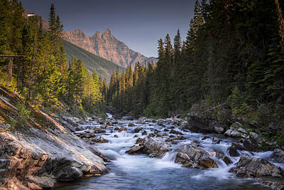 Photograph - Waterton River by Martin Longstaff