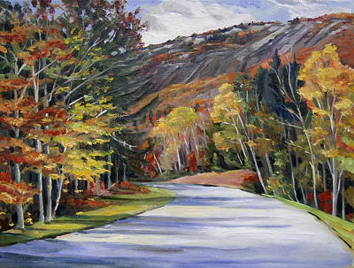 Painting - Waterville Road New Hampshire by Nancy Griswold