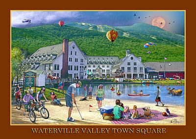 Digital Art - Waterville Valley Summer by Nancy Griswold