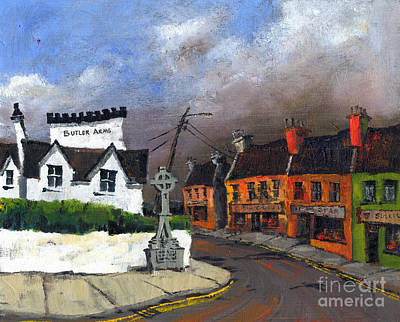 Painting - Waterville Village Kerry by Val Byrne