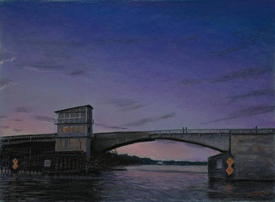 Ocean Pastel - Waterway Bridge At Dusk by Christopher Reid
