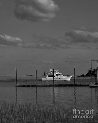 Photograph - Waterway In Black And White by Bob Sample