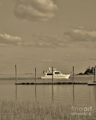 Photograph - Waterway In Sepia by Bob Sample