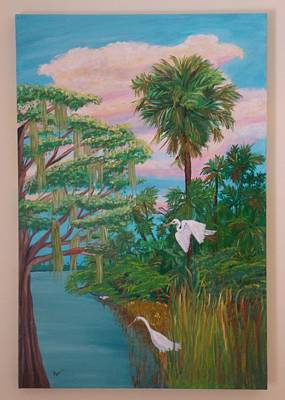 Painting - Waterway In The Glades by Patti Lauer
