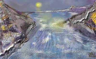 Waterway Rush Art Print by Gregory Steward