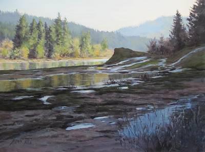 Painting - Waterways by Karen Ilari