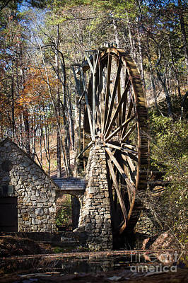 Berry College Photograph - Waterwheel At Berry by Caisues Photography