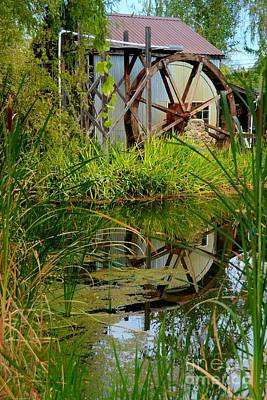 Photograph - Waterwheel Reflection by Patrick Witz