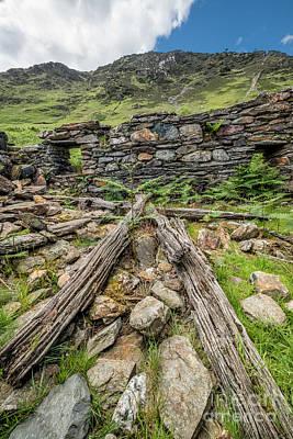 Ruins Photograph - Watkin Path Ruin by Adrian Evans