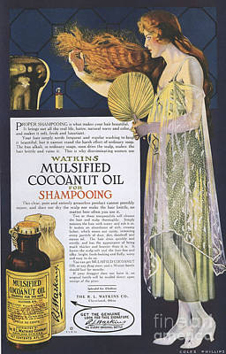 Nineteen-tens Drawing - Watkins 1918 1910s Usa Shampoo by The Advertising Archives