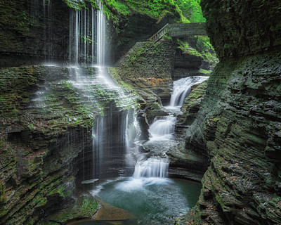 Watkins Glen New York Photograph - Watkins Glen by Bill Wakeley