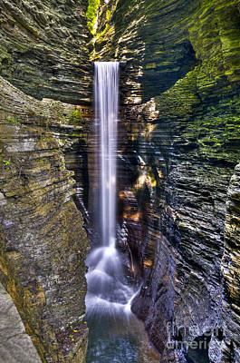 Seneca Lake Photograph - Watkins Glen Cascade by Anthony Sacco