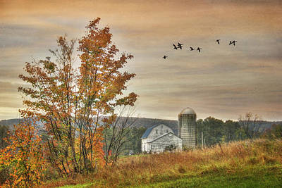Watkins Glen Farm Art Print by Lori Deiter