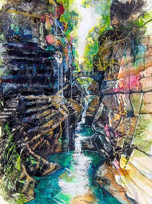 Watkins Glen Gorge Original by Patricia Allingham Carlson