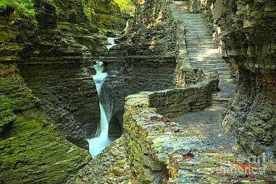 Photograph - Watkins Glen Gorge Trail by Adam Jewell