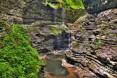 Photograph - Watkins Glen Rainbow Falls by Anthony Sacco