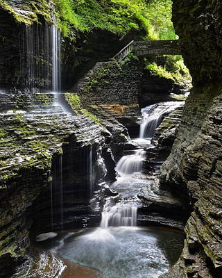 Photograph - Watkins Glen Rainbow Falls by Frozen in Time Fine Art Photography