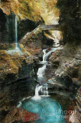 Painting - Watkins Glen State Park by Scott B Bennett