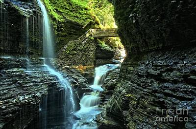 Watkins Glen Waterfalls Print by Adam Jewell