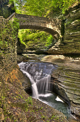 Seneca Lake Photograph - Watkins Glen Waterfalls by Anthony Sacco