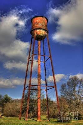 Welded Steel Photograph - Rusty Water Historic Watkinsville Georgia Water Tower by Reid Callaway
