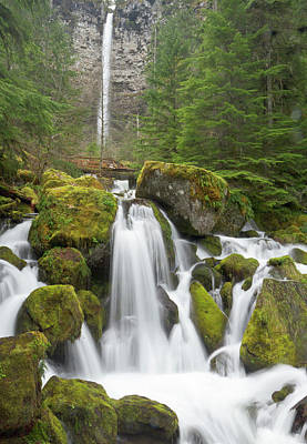 Watson Photograph - Watson Creek And Falls, Oregon by William Sutton