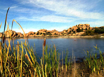Watson Lake Art Print by Kurt Van Wagner