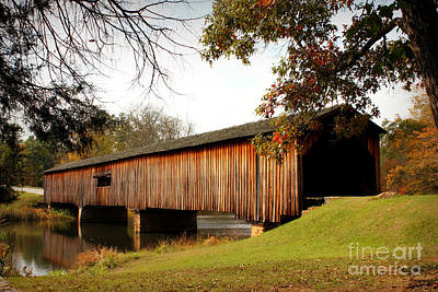 Photograph - Watson Mill Covered Bridge by Reid Callaway