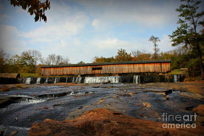 Photograph - Watson Mill Covered Bridge Too by Reid Callaway