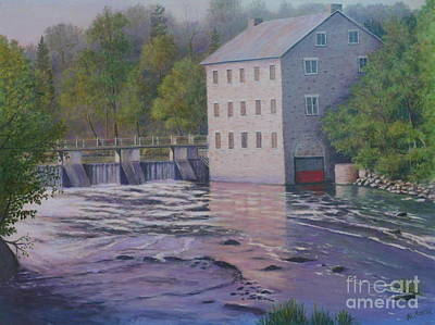 Painting - Watson's Mill Manotik by Al Hunter
