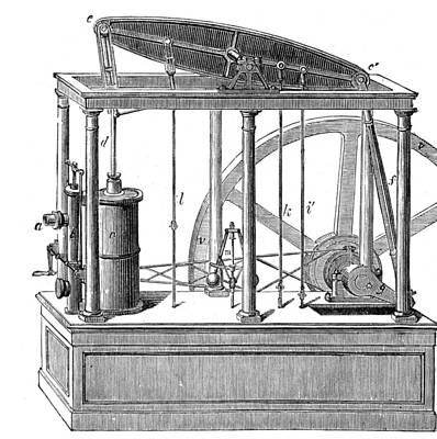 Steam Turbine Wall Art - Photograph - Watt Steam Engine, 18th Century by Science Source