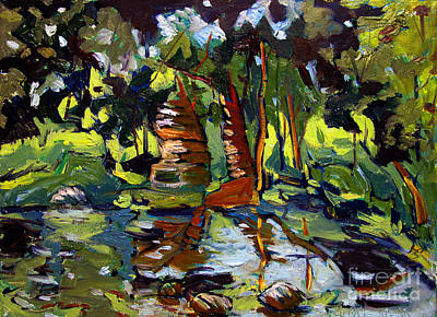 Edge Painting - Watteson's Eel River by Charlie Spear
