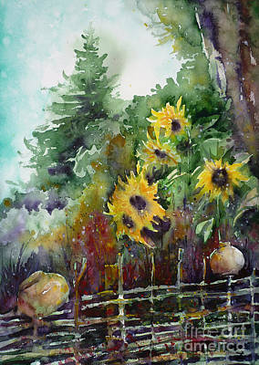Crocks Painting - Wattle Fence by Zaira Dzhaubaeva