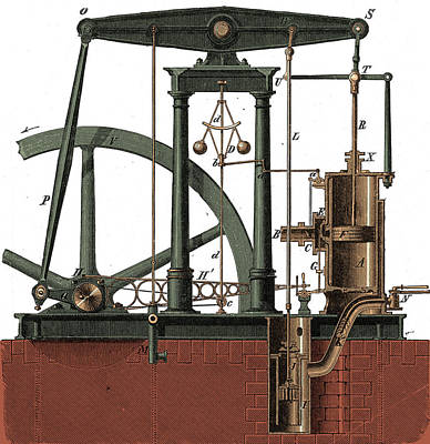 Steam Turbine Wall Art - Photograph - Watts Steam Engine, 18th Century by Science Source