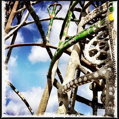 Outsider Art Photograph - Watts Towers Green by Judith Kitzes