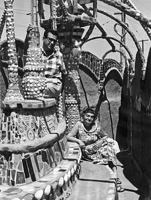 Watt Photograph - Watts Towers In La by Underwood Archives