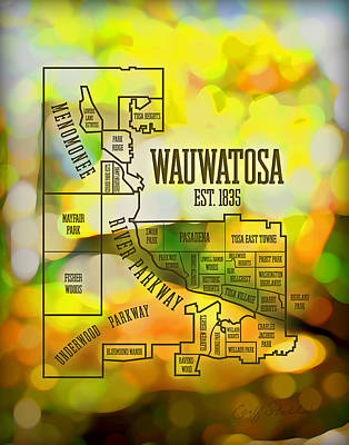 Wauwatosa Neighborhood Art Print by Geoff Strehlow