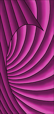 Digital Art - Wave - Fuchsia  by Judi Quelland