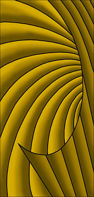 Digital Art - Wave - Golds by Judi Quelland