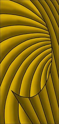 Digital Art - Wave - Golds by Judi Quelland