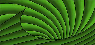 Digital Art - Wave - Greens by Judi Quelland