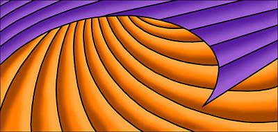 Digital Art - Wave - Purple And Orange by Judi Quelland