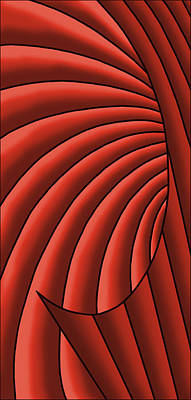 Art Print featuring the digital art Wave - Reds by Judi Quelland