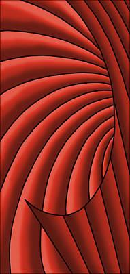 Digital Art - Wave - Reds by Judi Quelland