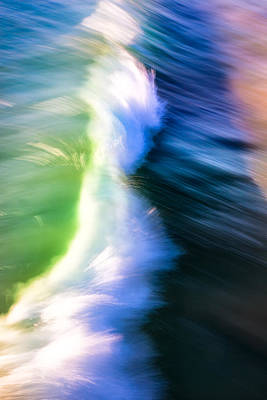 Photograph - Wave Abstract Triptych 2 by Brad Brizek