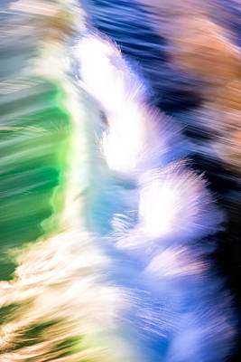 Photograph - Wave Abstract Triptych 3 by Brad Brizek