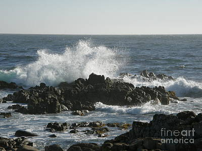 Nature Photograph - Wave Action by Bev Conover