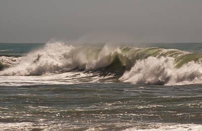 Art Print featuring the photograph Wave At Kirk Creek Beach by Lee Kirchhevel